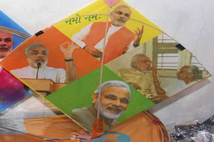 On Independence Day, kites with GST, Modi images in great