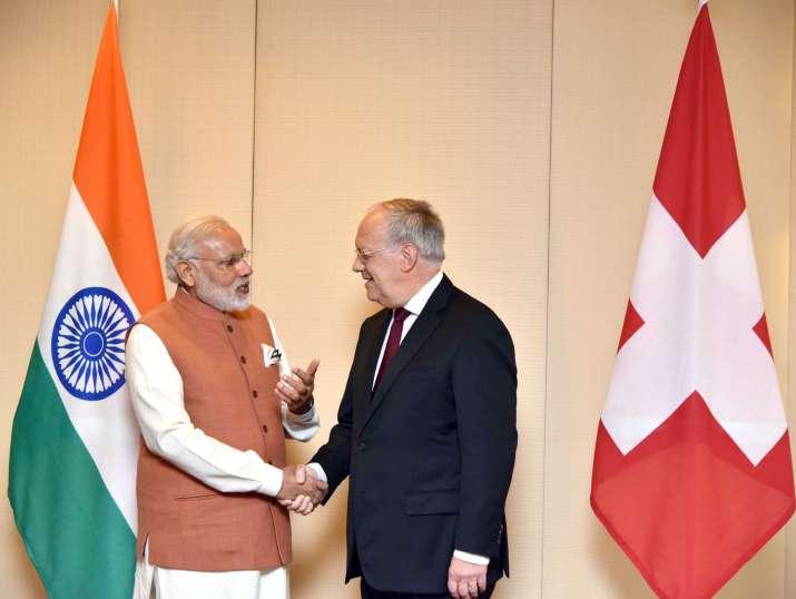 Swiss President Johann Schneider with PM Modi