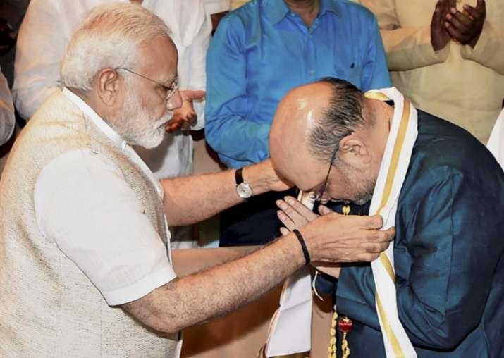 PM Modi felicitates Amit Shah on his election as Rajya