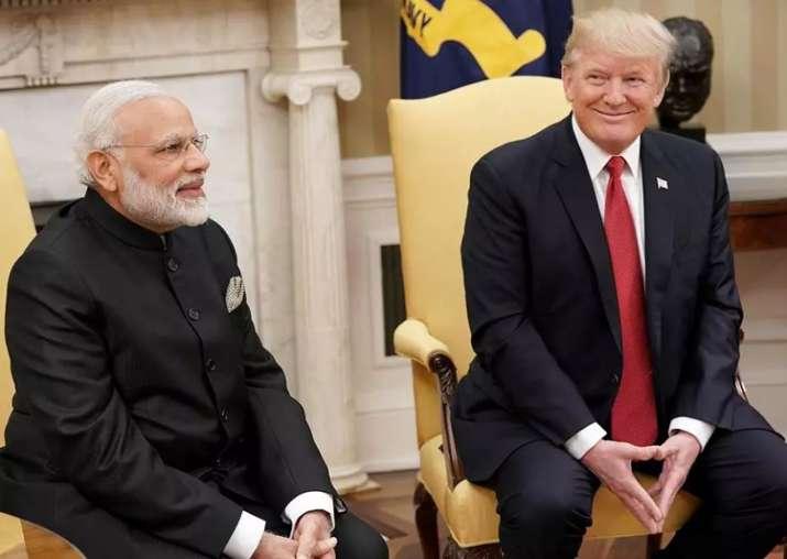 File pic - Narendra Modi and Donald Trump