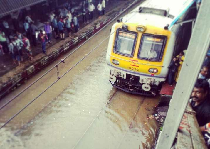 Rain fury in Mumbai: Suburban train service on western line
