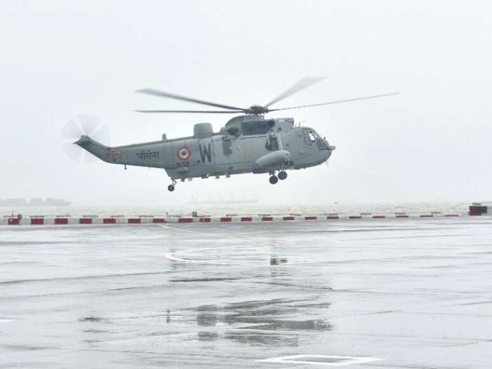 Navy puts helicopters, rescue teams on standby after heavy
