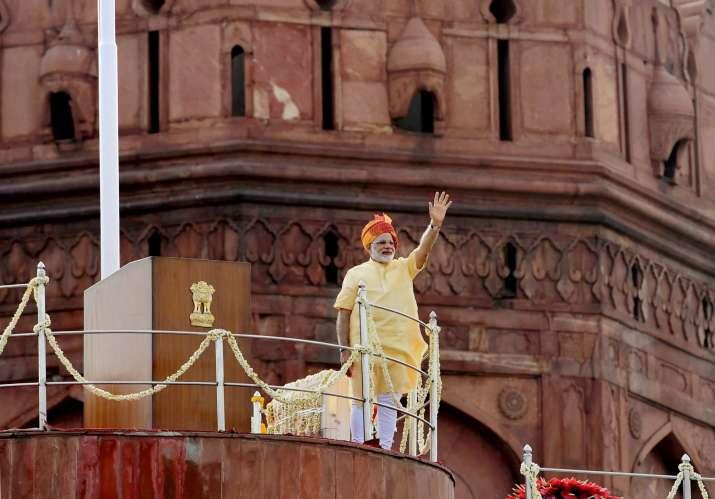 Prime Minister Narendra Modi addressing the nation from Red