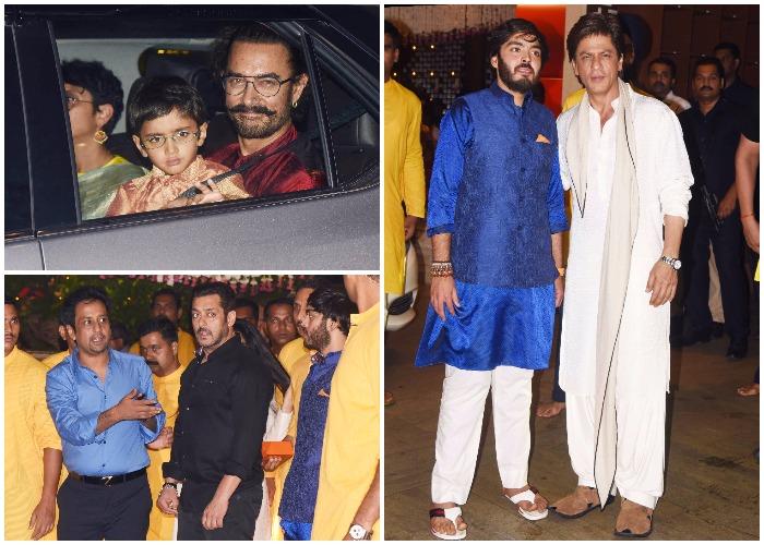 India Tv - Shah Rukh Khan, Salman Khan and Aamir Khan at Mukesh Ambani's bash