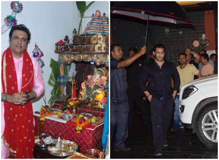 Salman Khan, Hrithik Roshan, Govinda welcome Ganapati