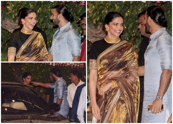 Ranveer Singh and Deepika Padukone at Mukesh Ambani's bash