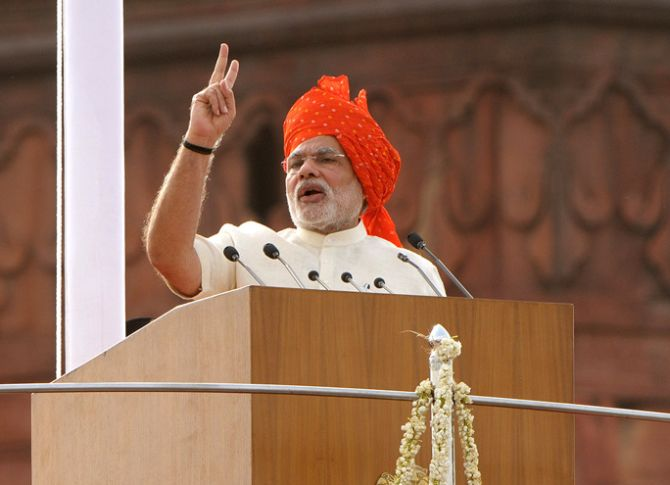 Highlights of PM Modi's speech on 71st Independence Day