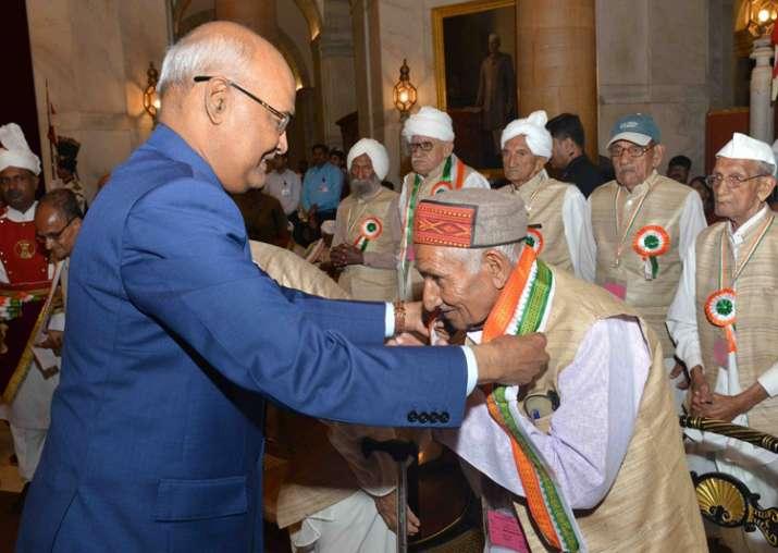 President Ram Nath Kovind felicitates 93 freedom fighters