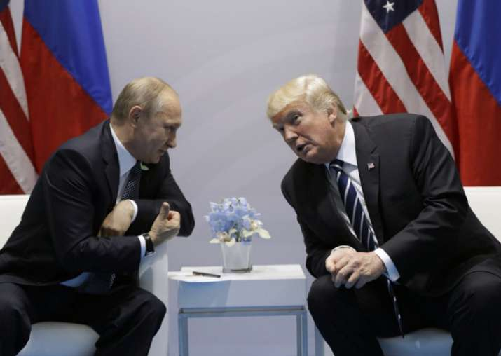 File pic - Vladimir Putin and Donald Trump