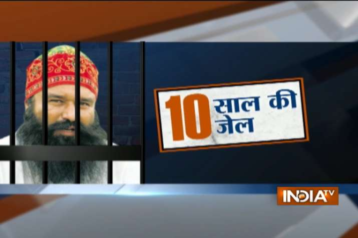 10-year rigorous imprisonment to Dera chief Ram Rahim for