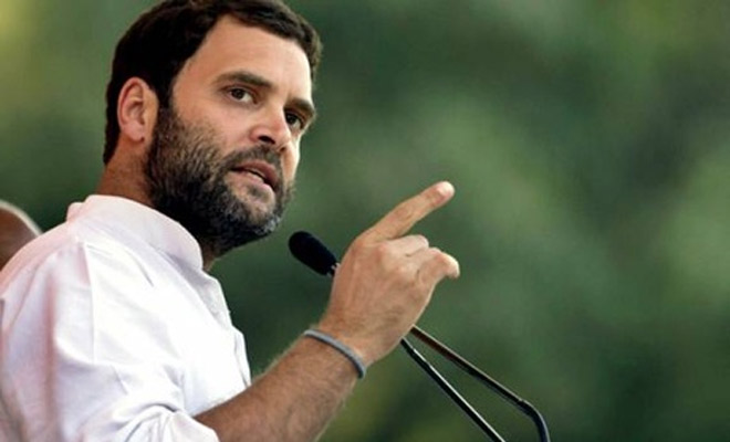 Rahul Gandhi had to retreat after angry crowds waived black