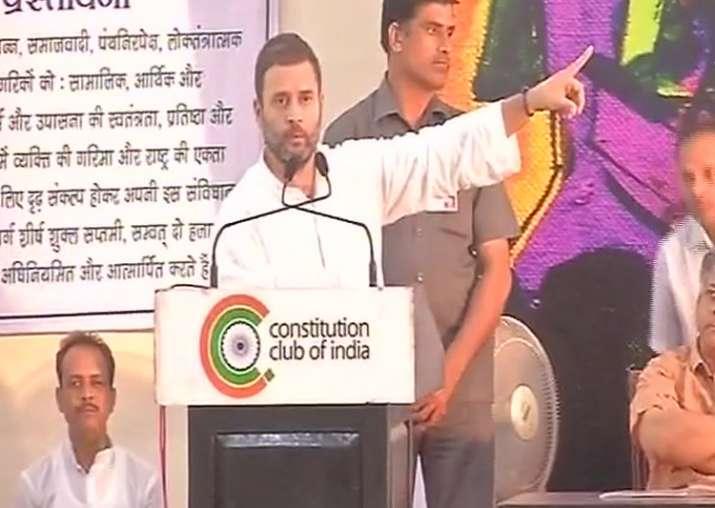 Congress vice-president Rahul Gandhi