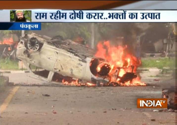 Violence in Punjab, Haryana after Ram Rahim Singh's