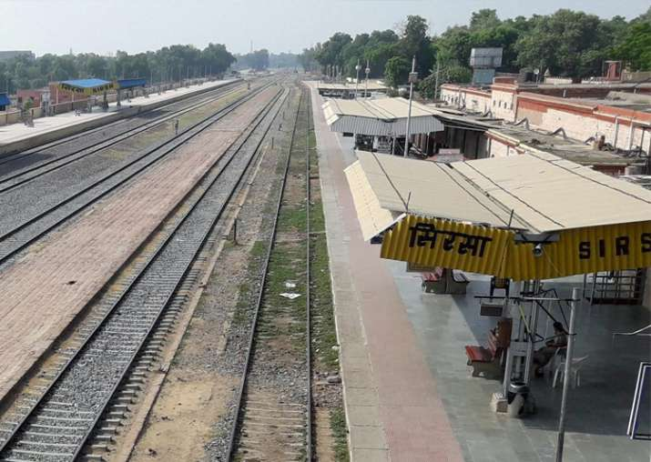 Deserted view of Sirsa Station after curfew in the city due