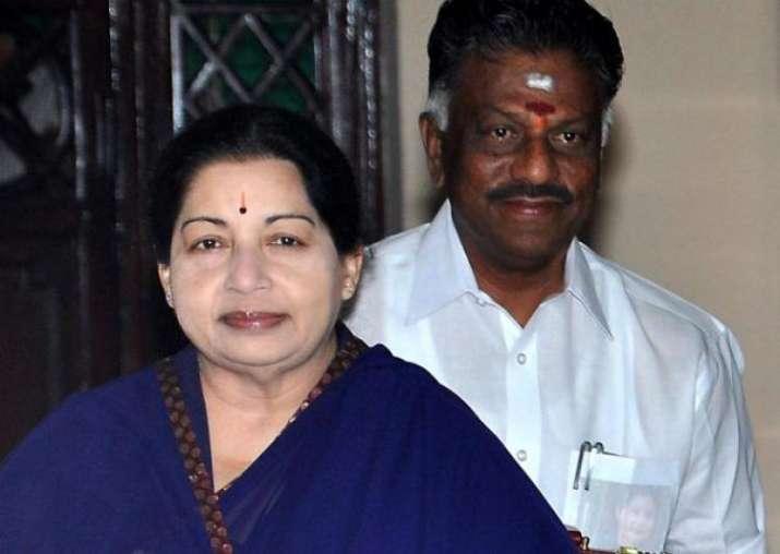 File Photo - O Panneerselvam with Late J Jayalalithaa