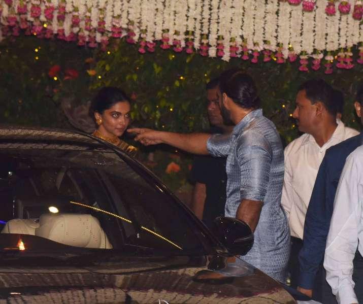 India Tv - Ranveer Singh and Deepika Padukone at Mukesh Ambani's bash