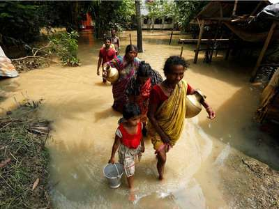 India Tv - West Bengal floods