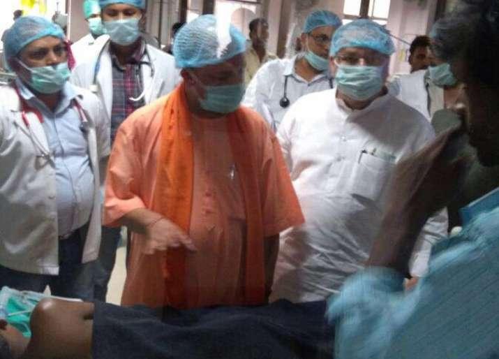CM Yogi visists BRD horpital