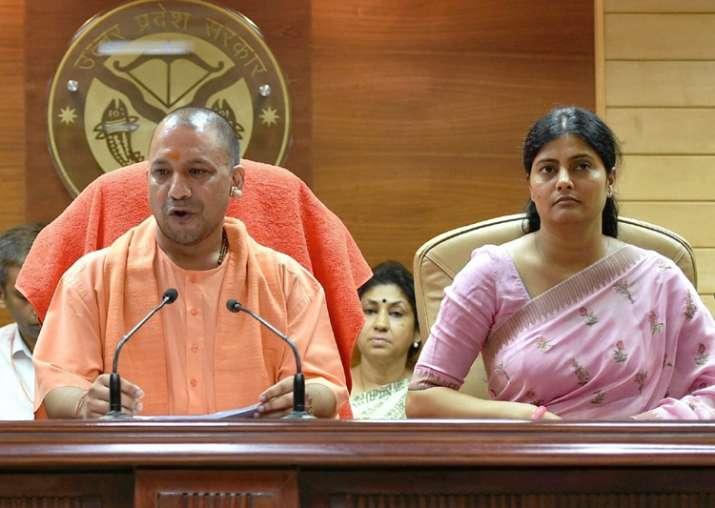 Lucknow: Yogi Aditiyanath, Anupriya Patel addressing a