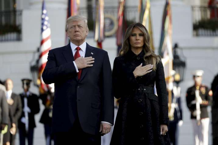 US President Donald Trump and his wife Melania Trump