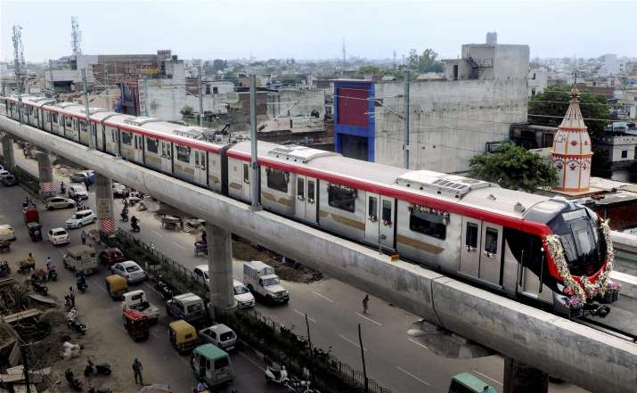 The Lucknow Metro was opened to the public today after its