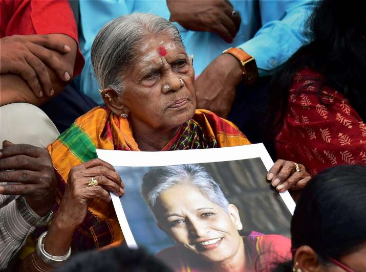 The killing of Gauri Lankesh has sparked protests across