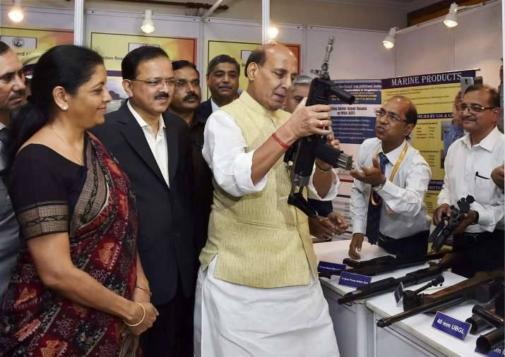 Home Minister Rajnath Singh and Defence Minister Nirmala