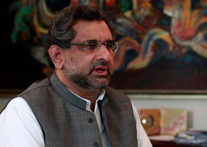 File pic of Pakistan PM Shahid Khaqan Abbasi
