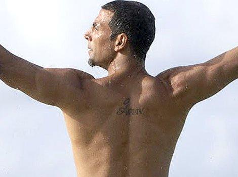 India Tv - Akshay Kumar back tattoo
