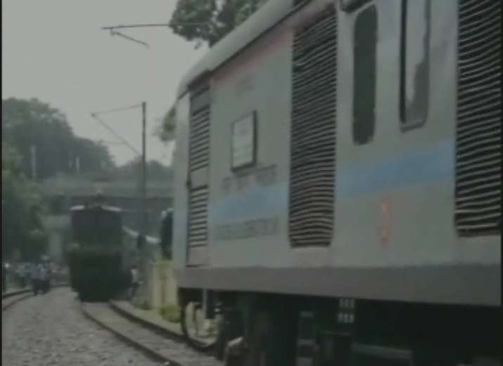 Three trains spotted running on same track in Allahabad