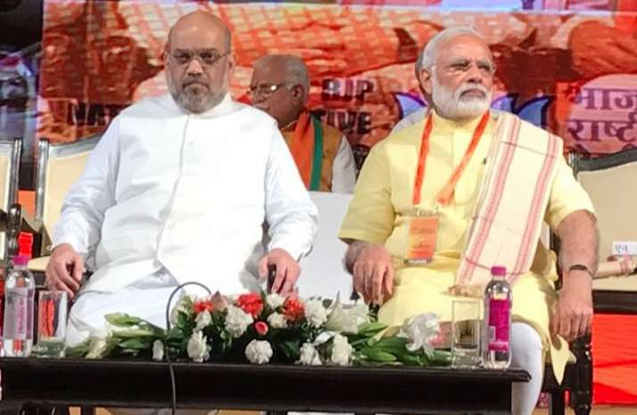 PM Modi at the second day of the BJP National Executive in