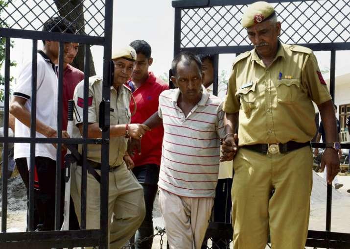 Gurugram student murder: Bus conductor Ashok Kumar being