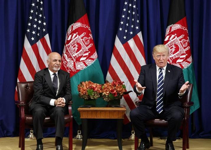 Donald Trump meets Afghan counterpart Ashraf Ghani