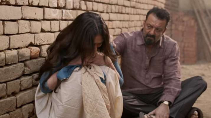 India Tv - Sanjay Dutt and Aditi Rao Hydari in Bhoomi