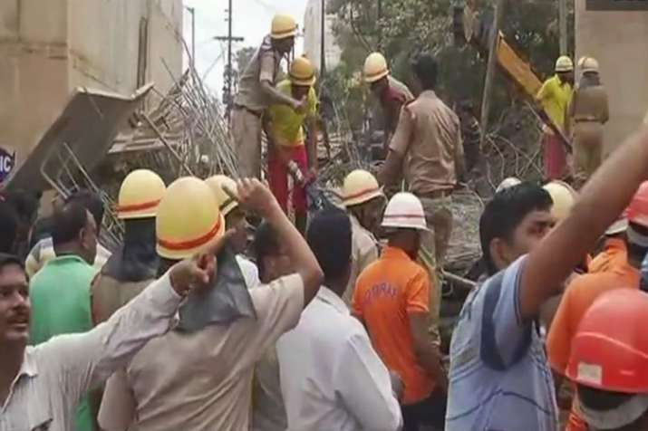 Under-construction flyover collapses in Bhubaneswar