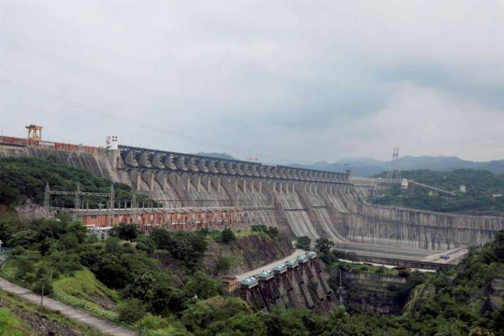 India Tv - A view of the Sardar Sarovar Dam that was dedicated to the nation by PM Modi