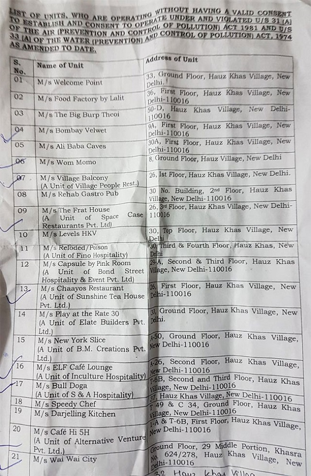 India Tv - List of restaurants and bars sealed in Hauz Khas Village by Delhi govt