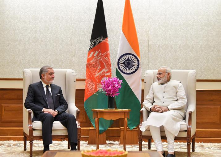 Afghanistan's Chief Executive Abdullah Abdullah calls on PM