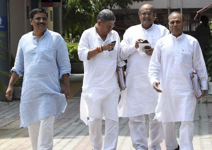 JD-U delegation including KC Tyagi, RCP Singh, Sanjay Jha