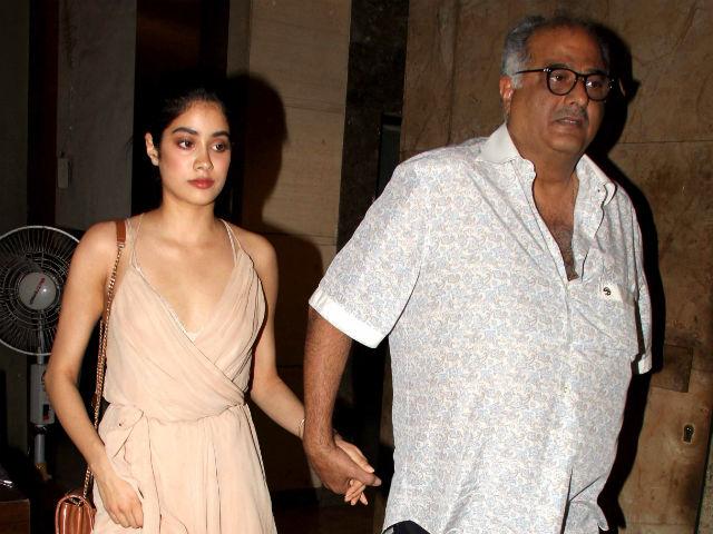 Boney Kapoor on daughter Jhanvi