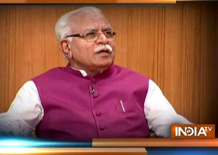 Haryana CM Manohar Lal Khattar in Aap Ki Adalat