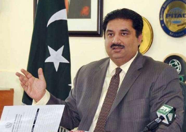 File pic of Pakistan Defence Minister Khurram Dastgir Khan