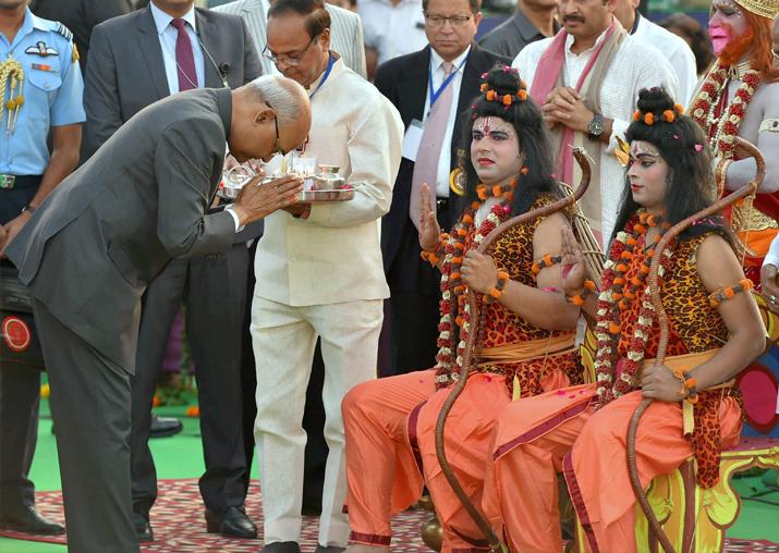 India Tv - President Kovind during Dussehra celebrations