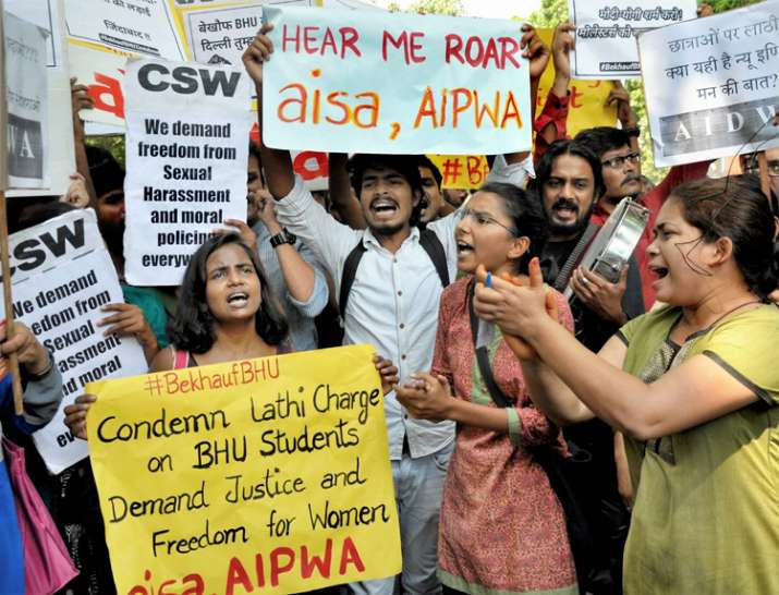 BHU violence: V-C denies baton-charge on female students