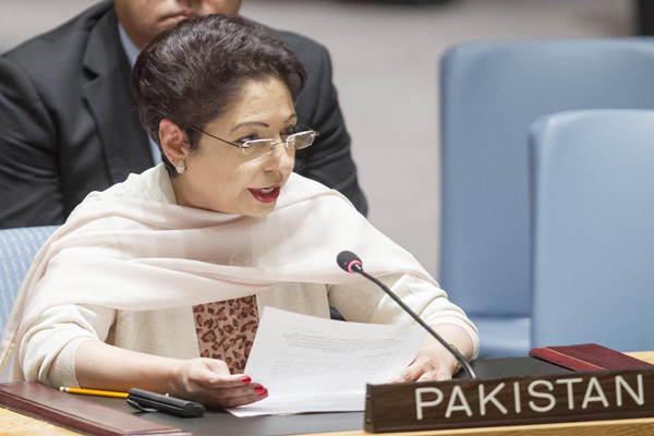 Pakistan's ambassador to the UN Maleeha Lodhi