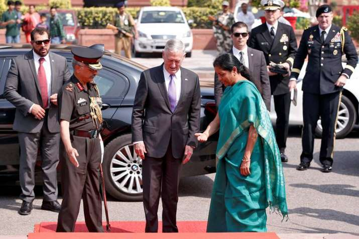 Defence Minister Nirmala Sitharaman and her US counterpart