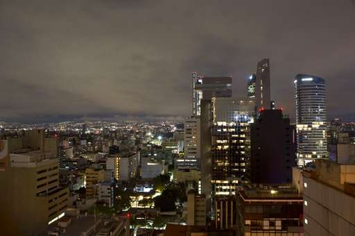 Mexico City after an earthquake, in the early morning hours
