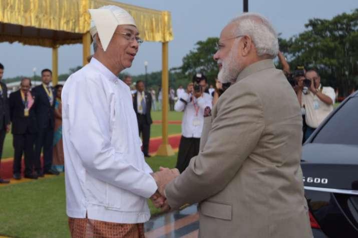 PM Modi meets Myanmar President