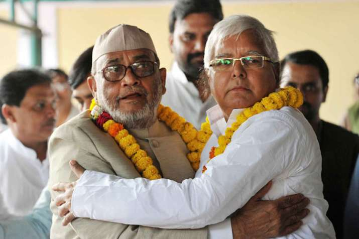 RJD MP Mohammad Taslimuddin with party chief Lalu Prasad