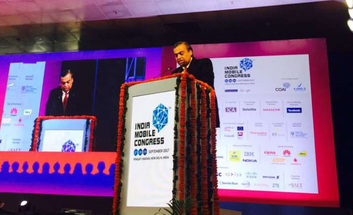 Mukesh Ambani at India Mobile Congress